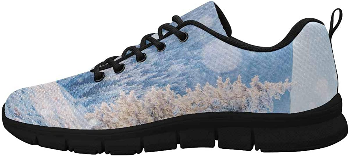 INTERESTPRINT Beautiful Tree Forest Landscape Women's Running Shoes Mesh Breathable Sports Casual Shoes