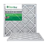 FilterBuy 20x20x1 MERV 8 Pleated AC Furnace Air Filter,...