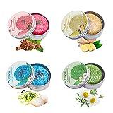 Djtanak Haar Shampoo Bar 4 Packungen, Anti Schuppen und Öl-Kontrolle, Natürliches Organisches...