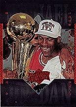 Michael Jordan basketball card (Chicago Bulls Athlete of the Century Edition) 1999 Upper Deck #69 NBA Championship Trophy