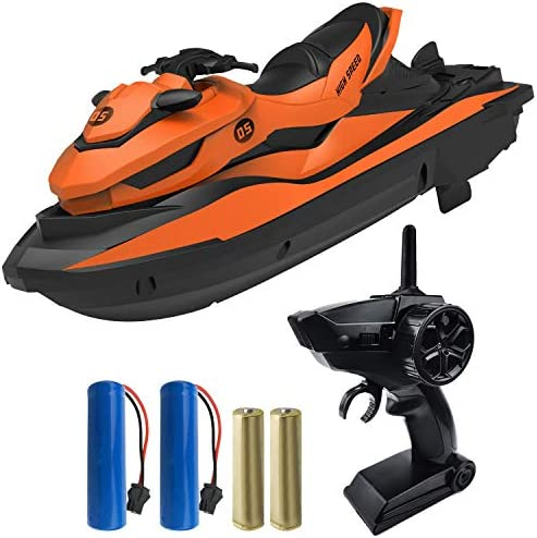 IOKUKI 2 4G RC Boats for Kids Remote Control Boat for Kids Adults for Lakes Pools with 2 Batteries product image