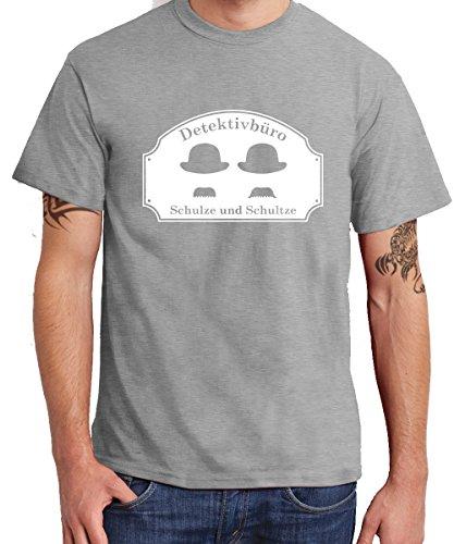 - Detektivbüro Schulze und Schultze - Boys T-Shirt Sports Grey, Größe XL