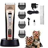 <span class='highlight'><span class='highlight'>GOFUN</span></span> Dog Clippers, 5 Speed Pet Hair Grooming Clippers Kit Cordless Pet Trimmers Low Noise Dog Grooming Kit Pet Clippers Dog Trimmer for Dogs Cats Horses
