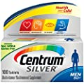 Centrum Silver Men Multivitamin/Multimineral Supplement Tablet, Vitamin D3, Age 50+