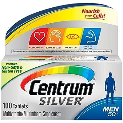 Centrum Silver Men Multivitamin/Multimineral Supplement Tablet, Vitamin D3, Age 50+