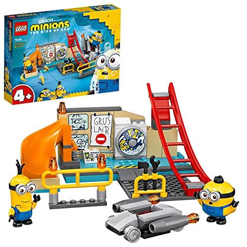 LEGO Minions I Minions nel Laboratorio di Gru con i Personaggi dei Minion di Otto e Kevin, Giocattoli per Bambini di 4+ Anni, 75546