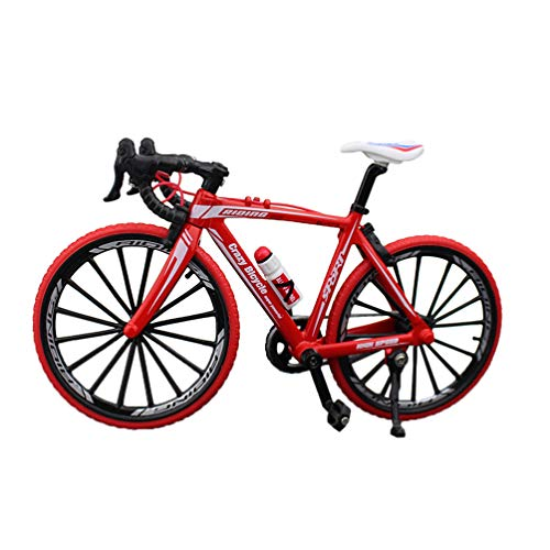 NUOBESTY Racing Bike Model Mini Mountain Bicycle Decoration Cool Boy Toy Collections,Christmas Brithday Gifts(Red)