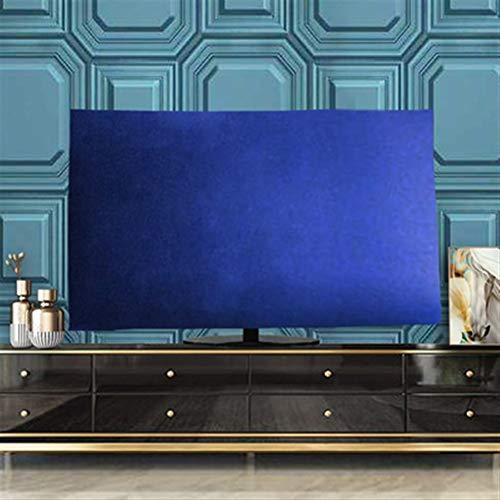 yuanyuanliu TV Cubierta De Polvo Paño De Terciopelo Drapeado De 55 Pulgadas LCD TV De 65 Pulgadas De Televisión Colgando De Polvo Cubre El Escritorio (Color : Blue, Size : XXX-Large)