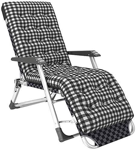 Gravedad Cero reclinable, Plegable Silla Tumbona Patio con Masaje apoyabrazos, aleación de Aluminio del Marco del Tubo, Tamaño: Sin colchón, Nombre de Color: Gris (Color : Gris)