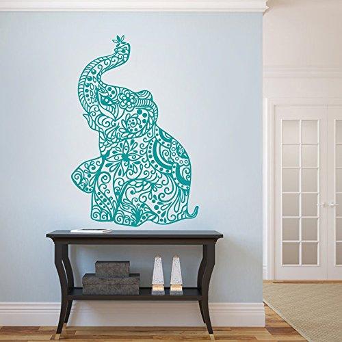 MairGwall India Wall Art Elephant Yoga Wall Decals Living Room Decor Bedroom Dorm Decoration (38