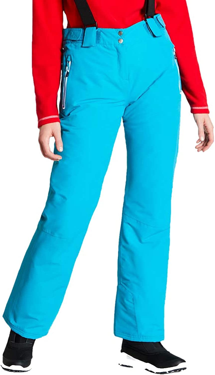 Dare 2b Damen Intrigue Pant Waterproof & Breathable Loft Insulated Hardwearing Ski & Snowboard Salopette Trousers with High Backed Waist and Integrated Snow Gaiters Lifthose
