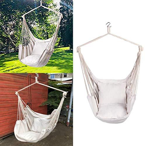 Dinger Silla de Hamaca brasileña Silla Colgante de Cuerda Colgante para jardín, Dormitorio, Porche, Interior/Exterior