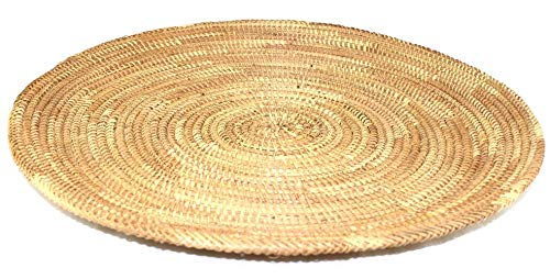 afriqueartdecoration.com 1559-A platte rieten mand