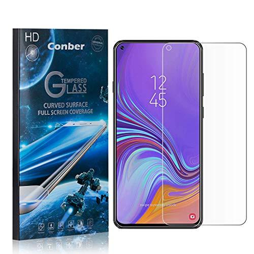 Conber [3 Pièces] Verre Trempé pour Samsung Galaxy A8S, [9H Dureté][sans Bulles][Haut Définition] Ultra-résistant Film de Protection écran pour Samsung Galaxy A8S