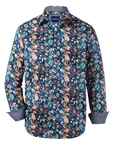 BABISTA Hemd mit floralem Druckmuster Blau