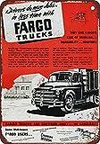 Froy 1950 Fargo Trucks Wand Blechschild Retro Eisen Poster