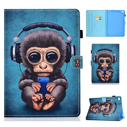 Succtop Funda iPad 6ta Generación 2018 iPad 2017 5ta Generación 2018 Dar Vuelta Billetera Dormir/Despertar Automático Apple iPad 2017/2018 9.7 Pulgadas iPad Air/iPad Air 2 Mono Música