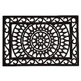 Calloway Mills 153802436 Sungate Rubber Doormat, 24' x 36', Black