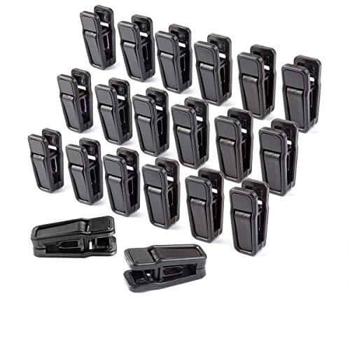 HOMEERR P1638071 - Pinze in plastica rimovibili per grucce con barra orizzontale, colore: nero, 40 pezzi