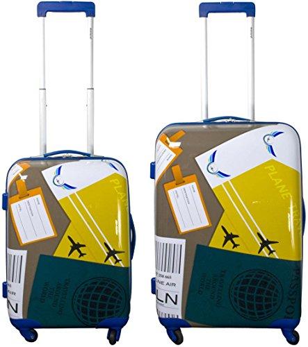 normani® Hartschalen-Kofferset aus ABS - Trolley, Koffer, Reisekoffer Farbe NEAPEL