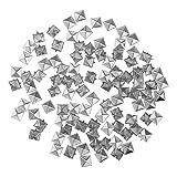 piaceto Assortimento Articoli di Gioielleria Ornamento DIY Mestiere Picco Piramide - Argento