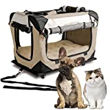 PetLuv 'Pull-Along Rolling Cat & Dog Carrier & Travel Crate on Wheels - Matching Comfy Plush Nap...