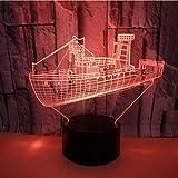 Ilusión Navidad Crucero Marítimo 7 Color Led Lámparas de Noche Para Niños Touch Led Mesa USB Baby Nightlight Drop Ship