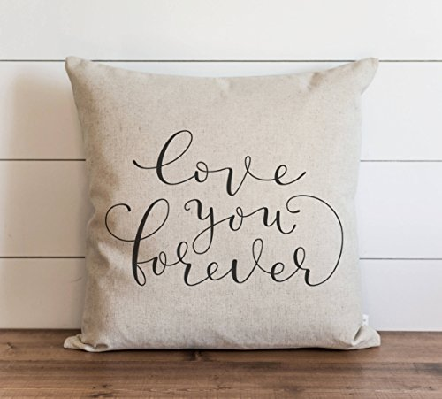 Love You Forever Pillow Cover Valentine's Day Love Everyday Throw Pillow Gift Accent Pillow Cushion Cover Case Pillowcase for Sofa Home Decor 20 x 20 Inches