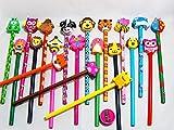 Partynelly XXL Bleistift- und Buntstiftset, 41 Teile, Tiere, als Mitgebsel zum Kindergeburtstag