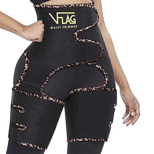 VFLAG Waist Trainer for Women,Thigh Trimmer,Butt Lifter,Sweat Belt