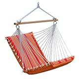 Algoma Net Company 1500S215213 Sunbrella Soft Comfort Hammock Hanging Chair, Orange