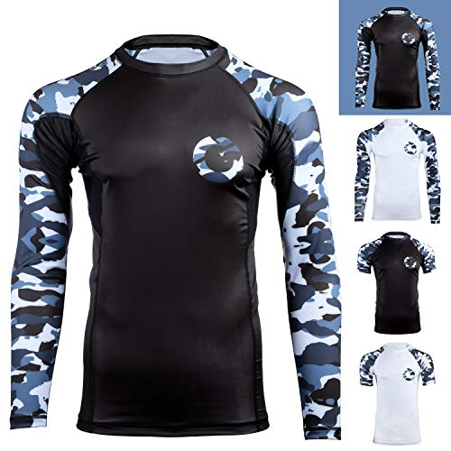 Gold BJJ Camo rash guard bjj