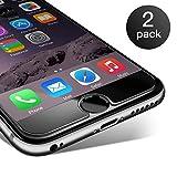 CoolReall Panzerglas Displayschutzfolie kompatibel mit iPhone 6s und iPhone 6 [2 Stück] - HD...