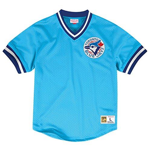 Toronto Blue Jays Mitchell & Ness MLB Men's Team Win Mesh Jersey Shirt (X-Large)