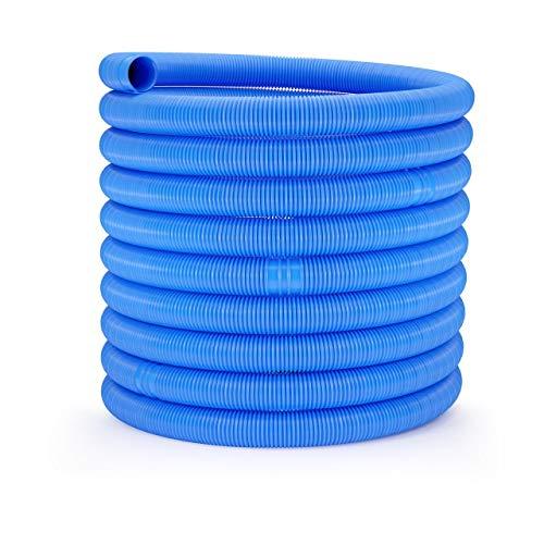 Uniprodo Uni_Pool_Hose_32/15 Poolschlauch 32mm blau Schwimmbadschlauch 15 m Schwimmbeckenschlauch Solarschlauch