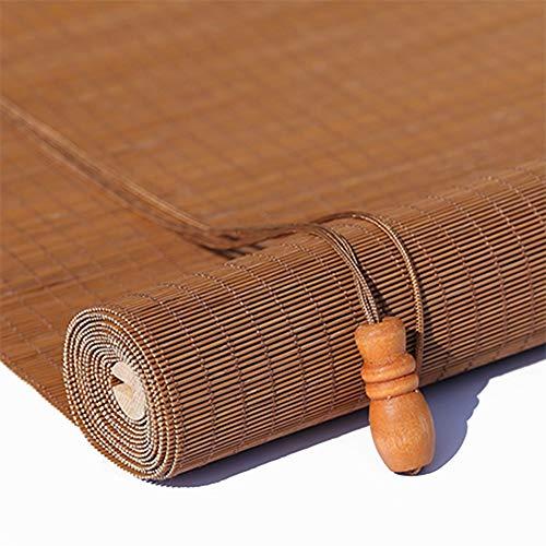 TINGTING Contraventanas, Cortina De Bambú Personalizable Sombreado Perspectiva Transpirable Estilo Chino Elevación De Tinta (color : Madera, Tamaño : 1 * 1M)