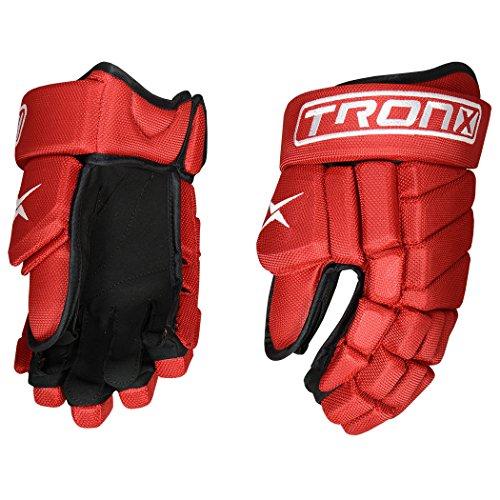 TronX Venom Hockey Gloves (14 Inch Red)