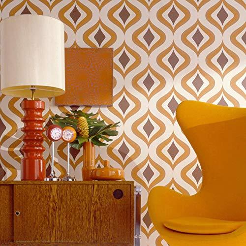 Superfresco Easy Paste the Wall Trippy Retro Vintage 60's Orange Wallpaper 15195