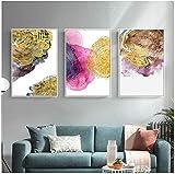 Imagen de póster 3x60x80cm sin marco Anillos de árbol abstractos modernos Imagen Arte de pared nórdico Póster de impresión minimalista de lujo para la decoración del hogar de la sala de estar