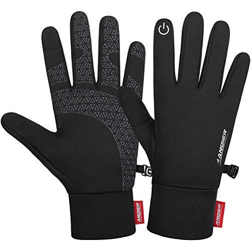 Anqier Handschuhe Herren Damen Touchscreen Handschuhe Warme Sporthandschuhe Leichte Fahrrad Winterhandschuhe für Laufen Wandern Radfahren Bergsteigen