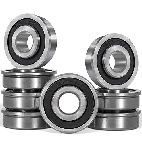 "8pcs Flanged Ball Bearing ID 1/2"" x OD 1-3/8"" Suitable for Lawn Mower, Wheelbarrows, Carts & Hand Trucks Wheel Hub, Replacement for Marathon, Exmark, Stens, Prime Line & Sunbelt."