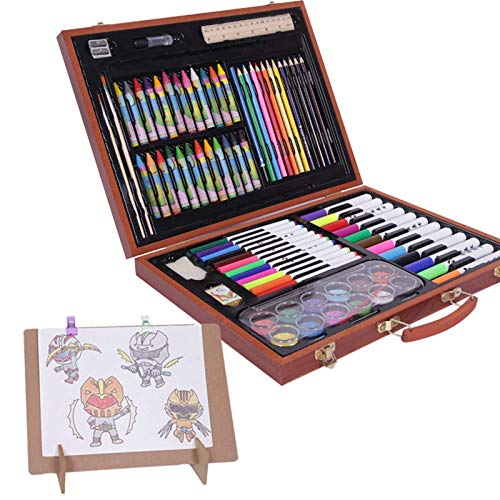 NBVCX Mechanical Parts Water Color Pen 116 Pieces Children'S Painting Set Art Sets With Easel For Beginners Pro Artists Including Crayon Set Gifts For Children (Color : Wood Size : 32 X 40 X 6 CM)