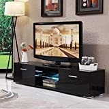 Best 65 Inch Led Tvs - Mecor High Gloss TV Stand with Lights, Modern Review