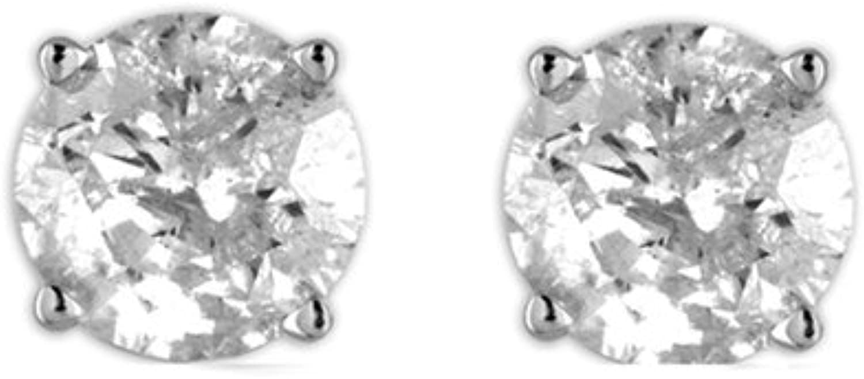 1 6cttw Diamond Stud Earrings in 10K White gold (IJ color, I2I3 Clarity)