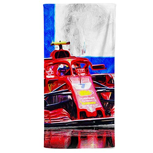 fotobar!style Strandhandtuch 90 x 180 cm 2018 noch in Ferrari-Diensten, fährt der Finne Kimi Räikkönen.ab 2019 für das Team Sauber.