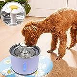 Fuente de agua para mascotas de Biteatey para perros y gatitos – Dispensador de agua inteligente de acero inoxidable con circulación automática y fuente de oxígeno con aplicación