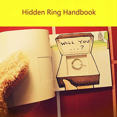 WUBIAN Wuban Valentinstag kreatives Geburtstagsgeschenk für Seine Freundin, handgedrehtes Buch mit versteckter Ringschatulle, romantische Angebotsseite zum Aufklappen von Animationsbuch