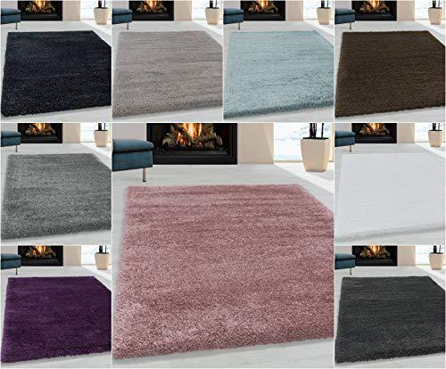 Ayyildiz Wunderschöne Shaggy Hochflor Langflor 30mm Shaggy Teppich, Schadstoffgeprüft Öko Tex Standard 100, Größe:80 x 250 cm, Farbe:Lila