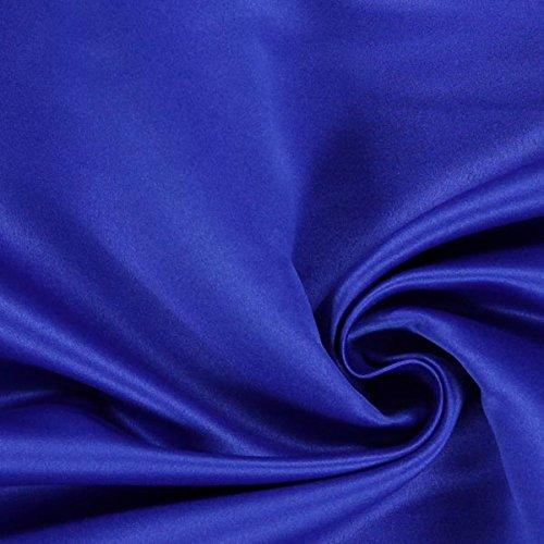 Fabulous Fabrics Satin königsblau, Uni, 148cm breit – Satin zum Nähen von Abendkleidung, Karnevalskostümen und Röcken – Meterware erhältlich ab 0,5 m