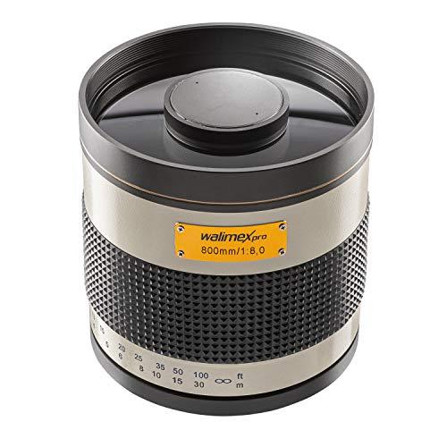 Walimex Pro 800mm 1:8,0 DSLR-Spiegelobjektiv für Nikon Z Objektivbajonett weiß (manueller Fokus, für Vollformat Sensor gerechnet, Filterdurchmesser inkl. Schutzdeckel und Objektivbeutel)